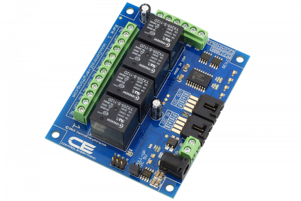4-Channel General Purpose SPDT Relay Controller + 4 GPIO with I2C Interface
