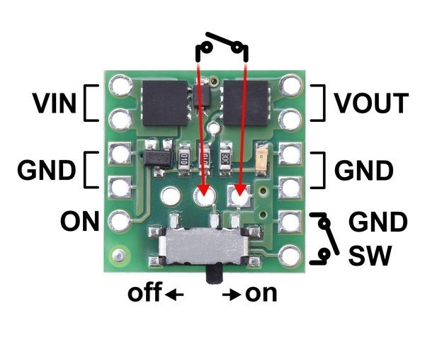Mini MOSFET Slide Switch with Reverse Voltage Protection, SV