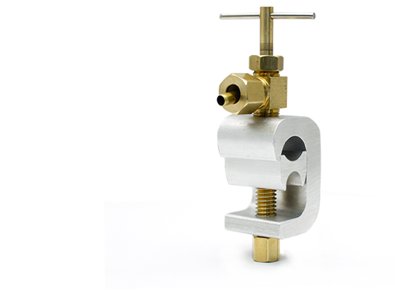 "Atlas Scientific Saddle Valve with 1/4"" Tubing Connector"