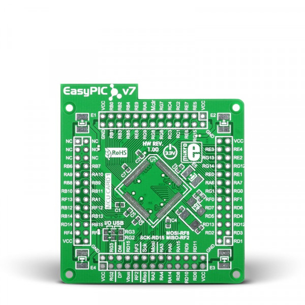 EasyPIC Fusion v7 Empty MCUcard1 100pin TQFP PT