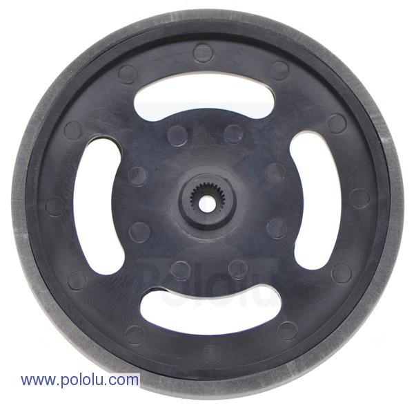 """2-5/8"""" Plastic Black Wheel Futaba Servo Hub"""