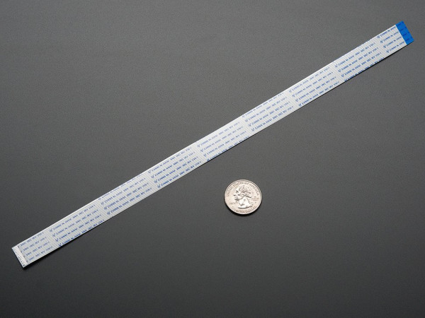 """Flex Cable for Raspberry Pi Camera - 300mm / 12"""""""