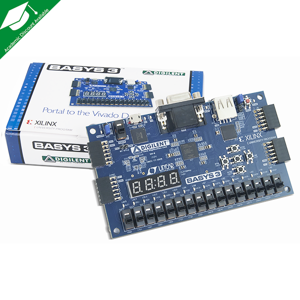 Basys 3 Artix-7 FPGA Trainer Board: Recommended for Introductory Users