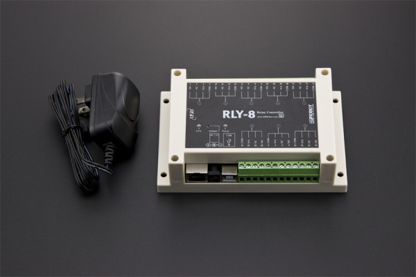 RLY-8-USB v1.0 USB Controlled 8 Channel 15A Relay Controller