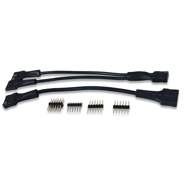 Pmod Cable Kit: 2x6-pin and 2x6 Pin to Dual 6-pin Pmod Splitter Cable