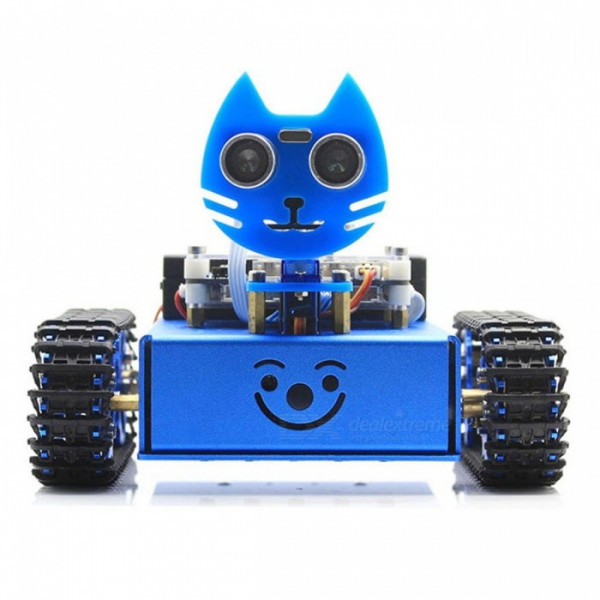 KitiBot, Starter Robot, Graphical Programming, Tracked Version