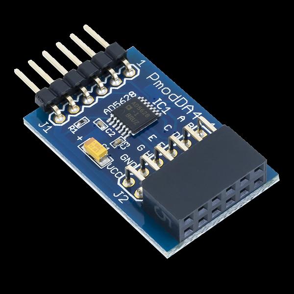 Pmod DA4: Eight 12-bit D/A Outputs