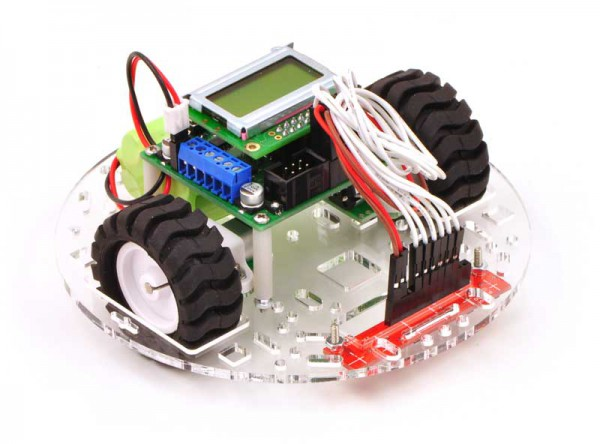 """Pololu 5"""" Robot Chassis RRC04A Solid Red"""