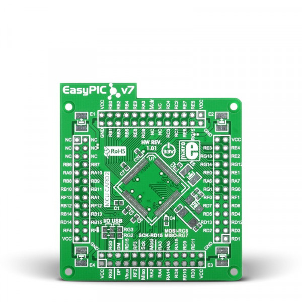 EasyPIC Fusion v7 Empty MCUcard2 100pin TQFP PT