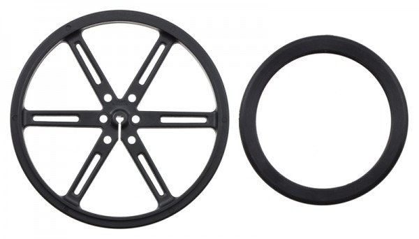 Pololu Wheel 90x10mm Pair- Black