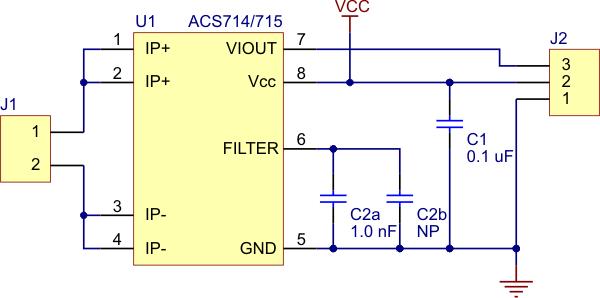 ACS714 Current Sensor Carrier -5A to +5A