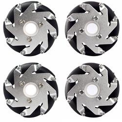 60mm Aluminum LEGO Compatible Mecanum wheels set( 2 Left, 2 Right) Basic