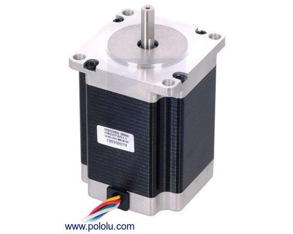 Stepper Motor: Unipolar/Bipolar, 200 Steps/Rev, 57×76mm, 4.5V, 2 A/Phase
