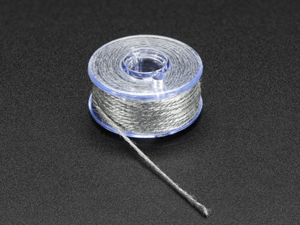 Stainless Thin Conductive Yarn / Thick Conductive Thread - 35 ft