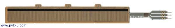 "Force-Sensing Linear Potentiometer: 4.0""×0.4"" Strip, Customizable Length"