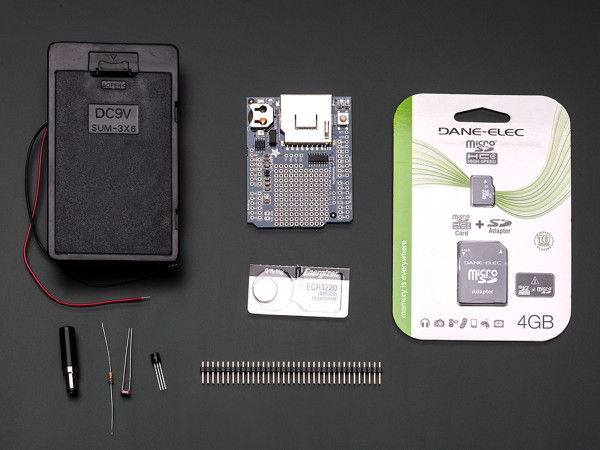 Light and temperature data-logger pack