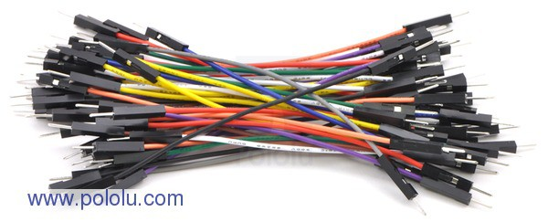 "Premium Jumper Wire 50-Piece Rainbow Assortment M-M 3"""