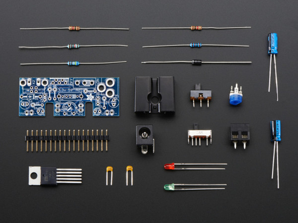 Adjustable breadboard power supply kit - v1.0