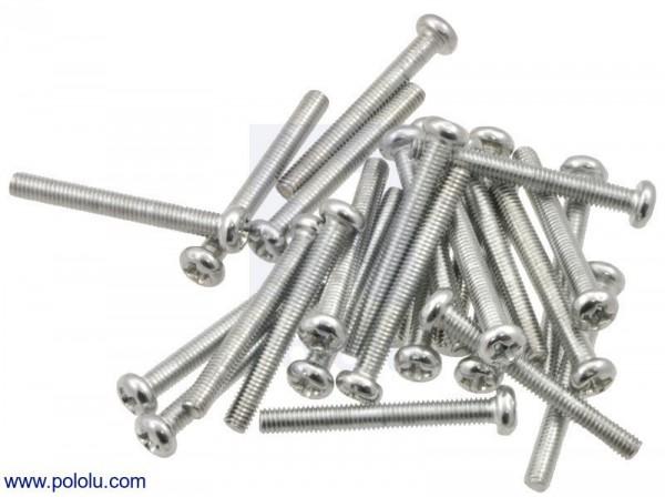 "Machine Screw: #4-40, 1"" Length, Phillips (25-pack)"