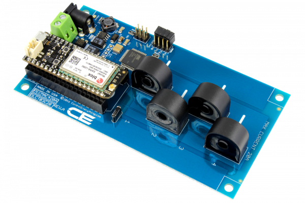 4-Channel On-Board 95% Accuracy 20-Amp AC Current Monitor with IoT Interface
