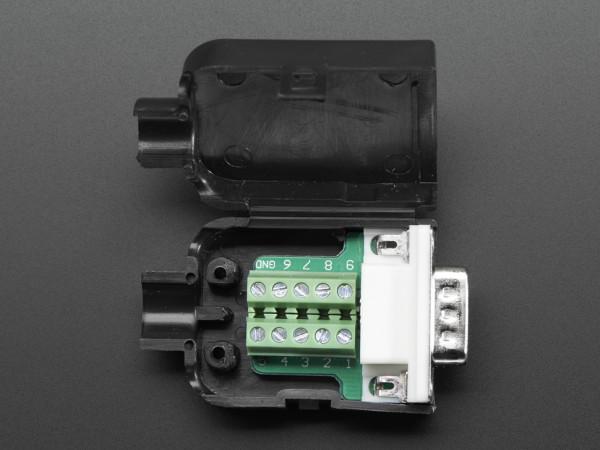 DE-9 (DB-9) Male Plug to Terminal Block Breakout