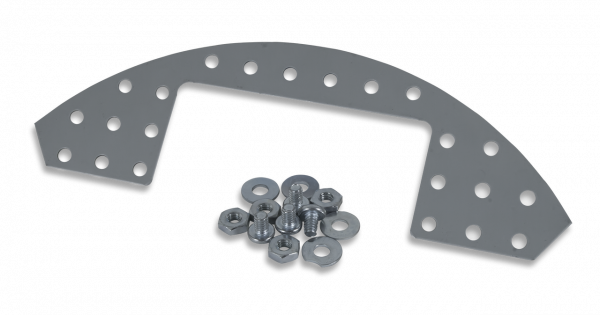 Rounded Plate Explansion Kit: Punched Metal Expansion Plate for Digilent Robot Kits