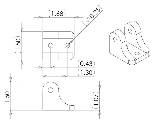 Mounting Bracket for Concentric LD Linear Actuators