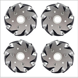 (4 inch)100mm Aluminum Mecanum Wheels Set Basic ( 2 Left, 2 Right)