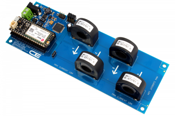 4-Channel On-Board 97% Accuracy 70-Amp AC Current Monitor with IoT Interface