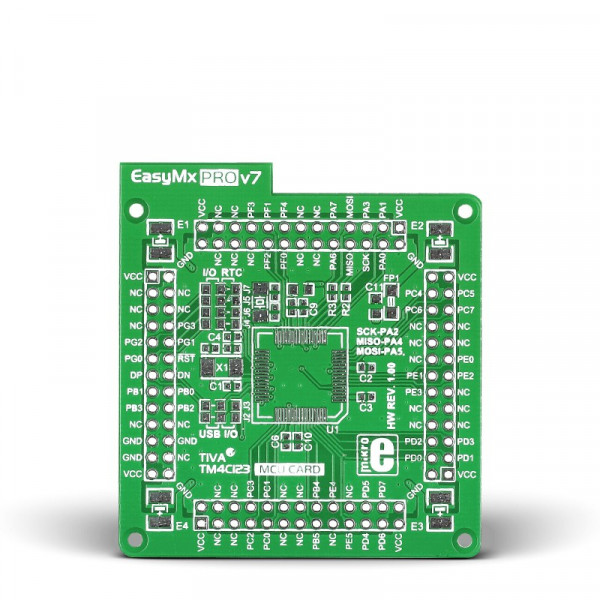 EasyMx PRO v7 for Tiva Empty MCU card for 64-pin TQFP TM4C123 series