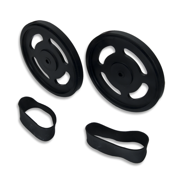 Wheel Kit (Splined Pair): ABS Injection Molded Wheels Compatible with Digilent Motor Mount