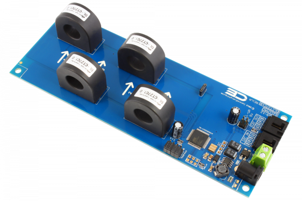 4-Channel On-Board 97% Accuracy 70-Amp AC Current Monitor with I2C Interface
