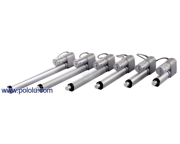 "Concentric LACT8P-12V-20 Linear Actuator with Feedback: 8"" Stroke, 12V, 0.5""/s"