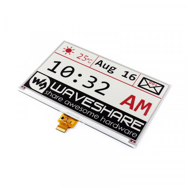 640x384, 7.5inch E-Ink raw display, three-color