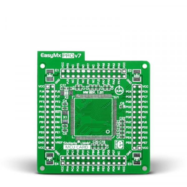 Standard empty MCU card for 144-pin TQFP Stellaris LM4F series