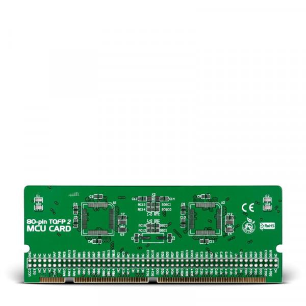 LV-24-33 v6 80-pin TQFP 2 MCU Card Empty PCB