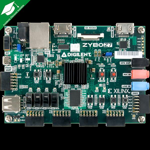 Zybo Z7-10 with SDSoC Voucher: Zynq-7000 ARM/FPGA SoC Development Board