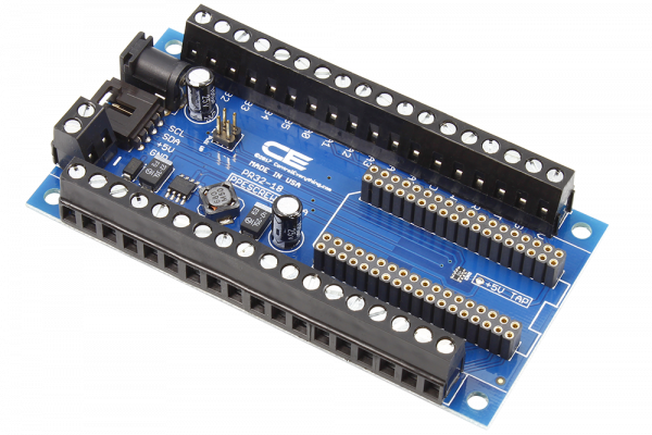 Particle Electron I2C Shield with Screw Terminals and 2 Amp Power Supply