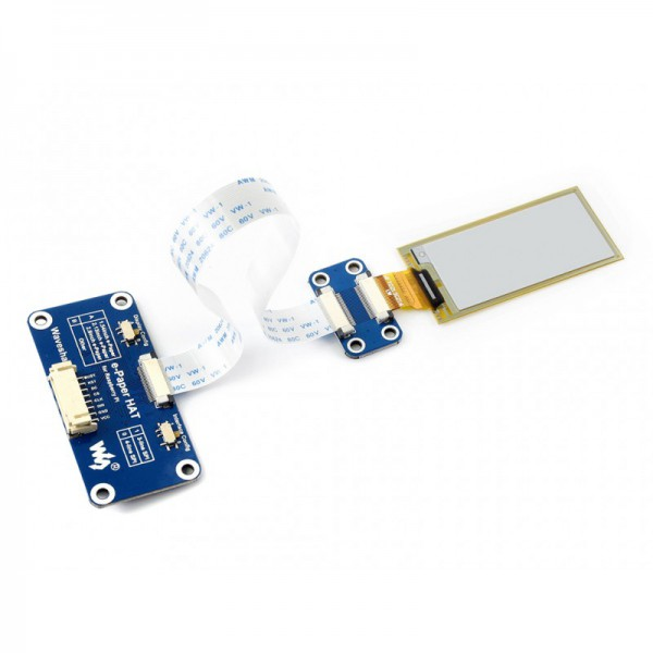 212x104, 2 13inch flexible E-Ink display HAT for Raspberry Pi