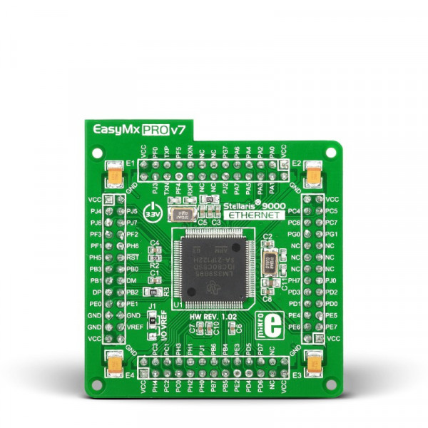 Ethernet MCU card with LM3S9B95 (100-pin TQFP)