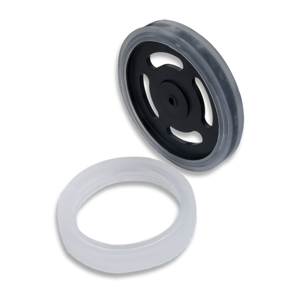 Sticky Rubber Tires (Pair): Kraton Polymer Wheel Covers to Add Traction to the Digilent Wheel Kit