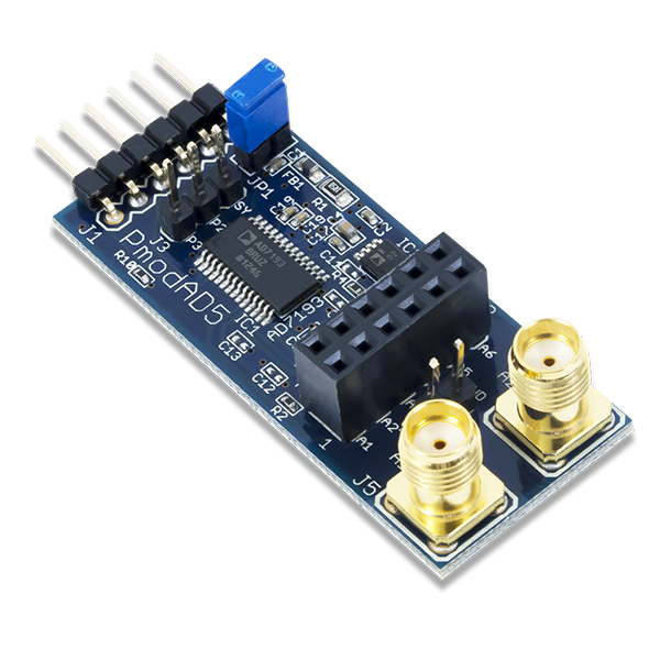 Pmod AD5: 4-channel 4.8 kHz 24-bit A/D Converter